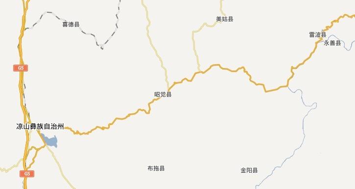 四川金阳县地图